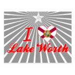 Amo el valor del lago, la Florida Tarjeta Postal