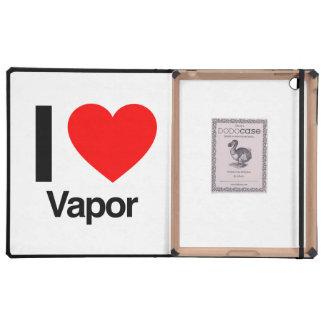 amo el vapor iPad cárcasas