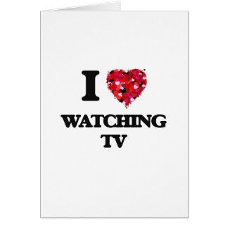 Amo el ver de la TV Tarjeta De Felicitación