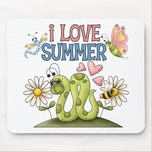 Amo el verano Mousepad Tapetes De Raton