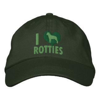 Amo el verde de Rotties Gorra De Beisbol