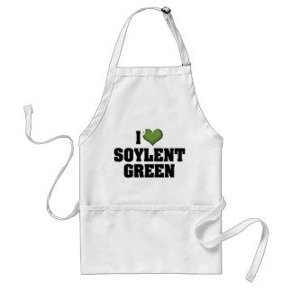 Amo el verde de Soylent Delantal