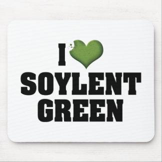 Amo el verde de Soylent Tapetes De Ratón