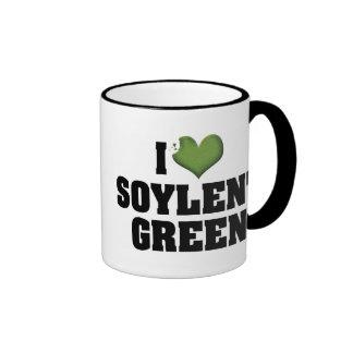 Amo el verde de Soylent Taza A Dos Colores