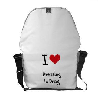 Amo el vestirme en la fricción bolsas messenger