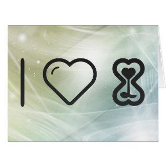 Amo el vidrio de la hora tarjeta de felicitación grande