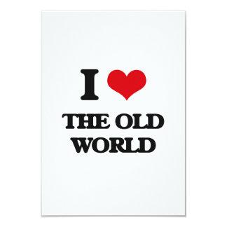 """Amo el Viejo Mundo Invitación 3.5"""" X 5"""""""