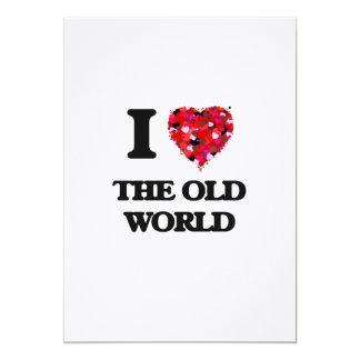 """Amo el Viejo Mundo Invitación 5"""" X 7"""""""