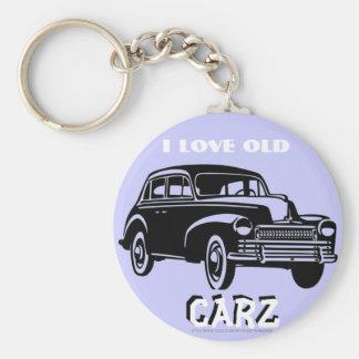 """¡""""Amo el viejo vintage Carz! """" Llaveros Personalizados"""