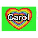 Amo el villancico: corazón del arco iris tarjeta