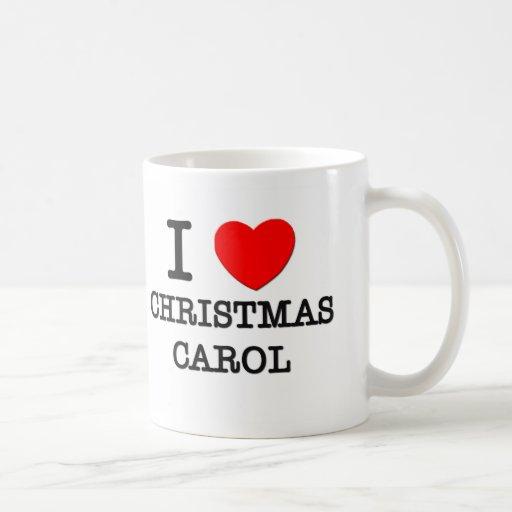 Amo el villancico del navidad tazas de café