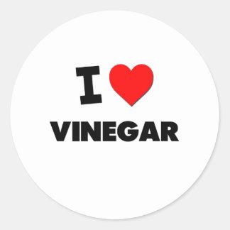 Amo el vinagre pegatina redonda