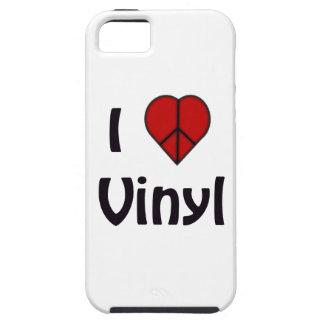 amo el vinilo iPhone 5 protectores