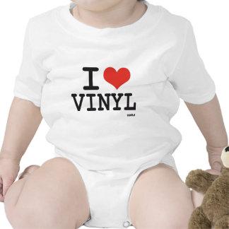 Amo el vinilo trajes de bebé