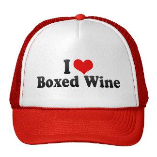 Amo el vino encajonado gorras