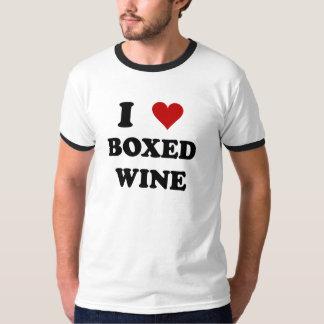 Amo el vino encajonado remera