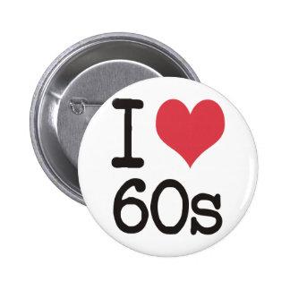 ¡Amo el vintage 60s y diseños retros! Pin Redondo 5 Cm