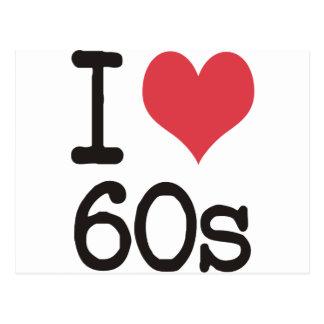 ¡Amo el vintage 60s y diseños retros! Tarjeta Postal