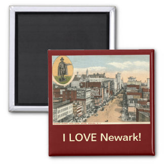 AMO el vintage de Newark NJ Imán Cuadrado