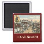 AMO el vintage de Newark NJ Imán Para Frigorífico