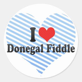 Amo el violín de Donegal Etiquetas Redondas