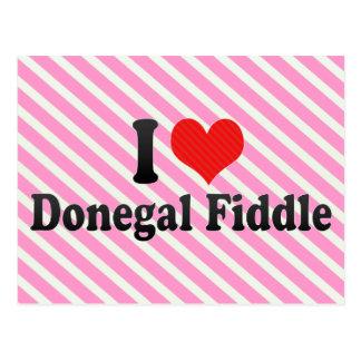 Amo el violín de Donegal Postales