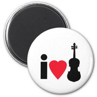 Amo el violín imán redondo 5 cm