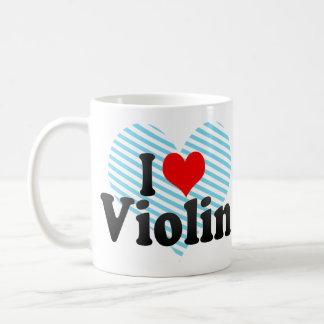 Amo el violín taza