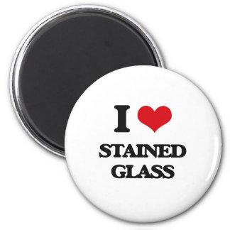 Amo el vitral imán redondo 5 cm