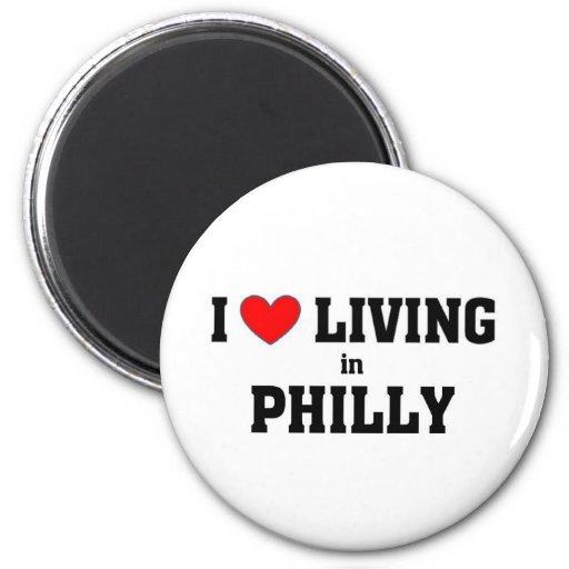 Amo el vivir en Philly Imán De Nevera