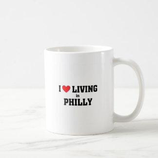 Amo el vivir en Philly Tazas De Café