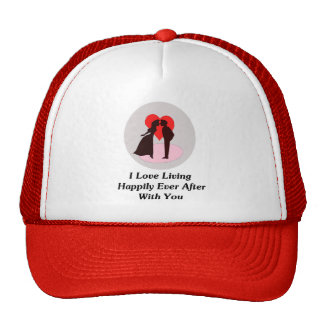 Amo el vivir feliz siempre después con usted gorras de camionero