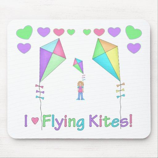 Amo el volar de cometas mouse pads