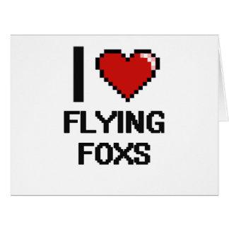 Amo el volar del diseño de Foxs Digital Tarjeta De Felicitación Grande