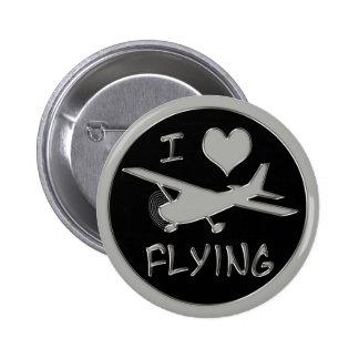 Amo el volar pin redondo de 2 pulgadas