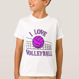 Amo el voleibol, pinkpurple playera