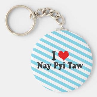 Amo el voto en contra Pyi Taw, Myanmar Llavero Redondo Tipo Pin