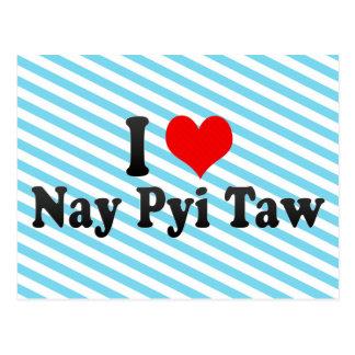 Amo el voto en contra Pyi Taw, Myanmar Tarjeta Postal
