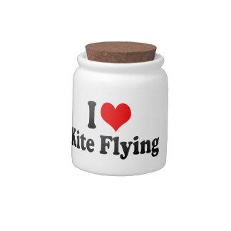 Amo el vuelo de la cometa jarra para caramelo