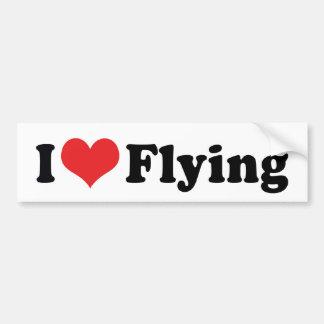Amo el vuelo del corazón - amante del aeroplano pegatina para auto