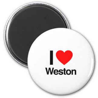amo el weston imán de frigorífico