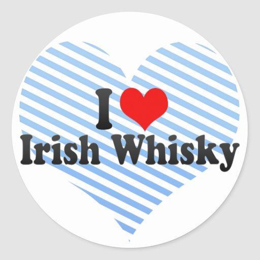Amo el whisky irlandés pegatina redonda