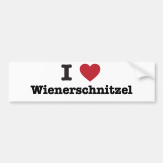 Amo el wienerschnitzel pegatina de parachoque