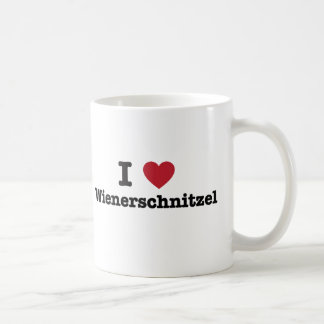 Amo el wienerschnitzel taza de café