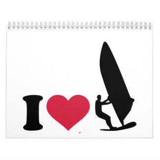 Amo el Windsurfing Calendario De Pared