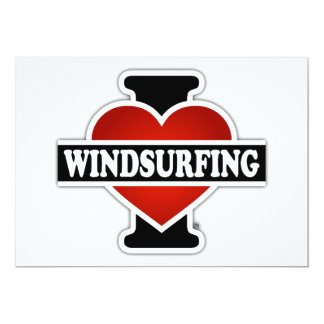 """Amo el Windsurfing Invitación 5"""" X 7"""""""