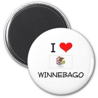 Amo el WINNEBAGO Illinois Imán Redondo 5 Cm