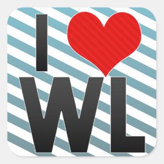 Amo el WL Pegatina Cuadrada