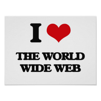 Amo el World Wide Web Póster