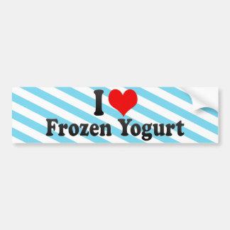 Amo el yogurt congelado pegatina para auto